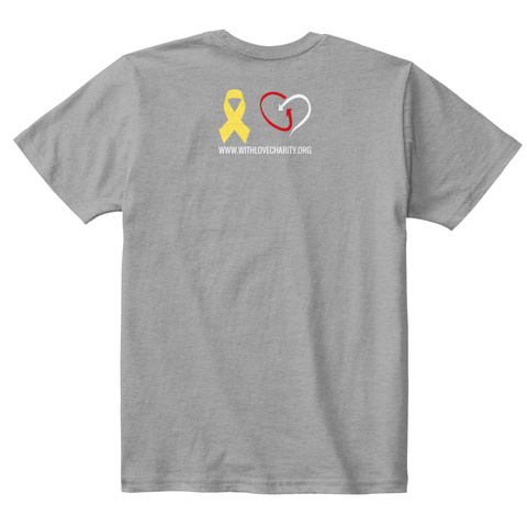Www.Withlovecharity.Org Light Heather Grey  T-Shirt Back