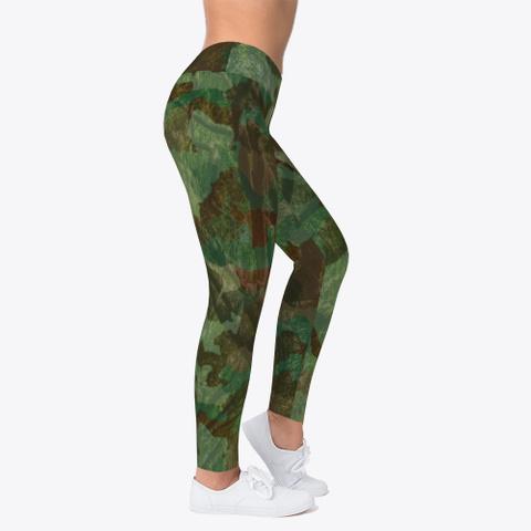 Woodland Camo Leggings Standard T-Shirt Right