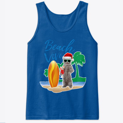 Beach Vive Christmas In Summer Royal T-Shirt Front