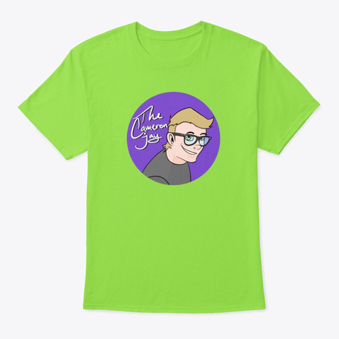 The Cameron Jay Logo Lime T-Shirt Front