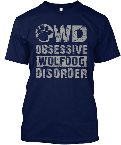 Owd Obsessive Wolfdog Disorder Navy Kaos Front