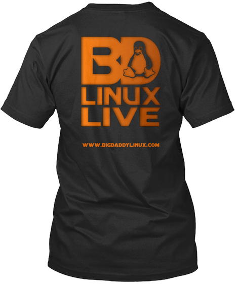Www.Bigdaddylinux.Com Black T-Shirt Back