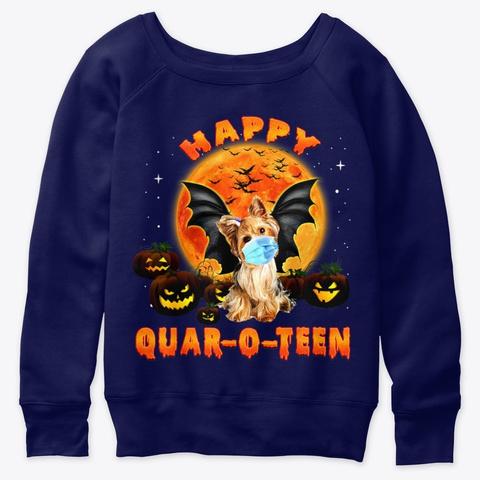 Happy Quar O Teen Yorkshire Dog Costume Navy  T-Shirt Front