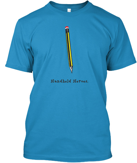 Pencil   Handheld Heroes (Uk/Eu) Sapphire T-Shirt Front