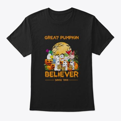 Great Pumpkin Believer Black T-Shirt Front