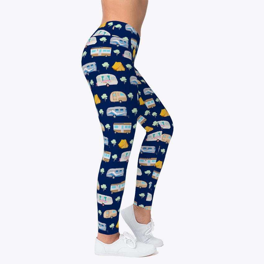 Leggings Camping Time Camper Women/'s Print Fitness Stretch *Leggings* Yoga Pants