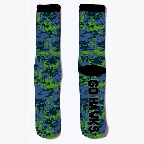 Go Hawks Digital Camo Socks Standard T-Shirt Front