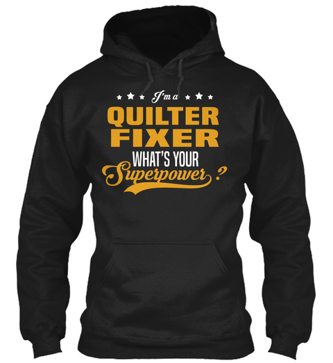 Quilter Fixer Black T-Shirt Front