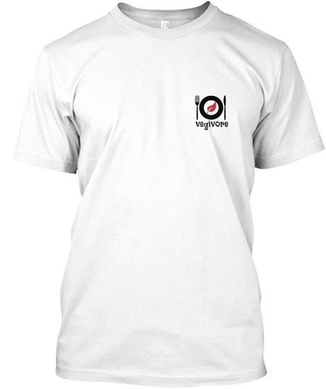 Vegivore White Camiseta Front