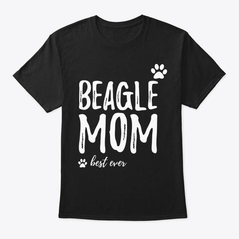 Beagle Mom Shirt Funny Tshirt For Dog Black T-Shirt Front