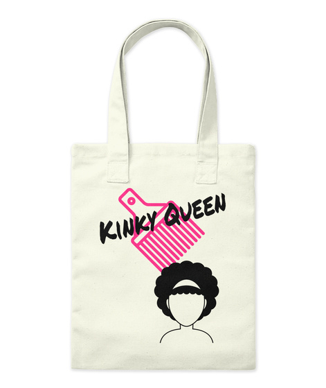 Kinky Queen Natural T-Shirt Front