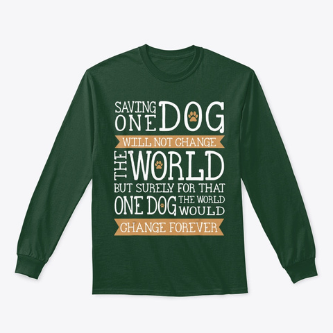 Animal Rescue Team Dog Lover Gift T Shirt Forest Green T-Shirt Front
