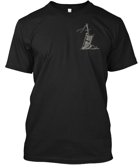 The Crusader! Black T-Shirt Front