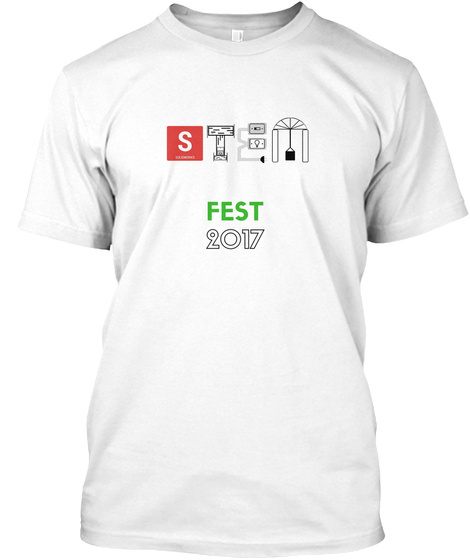 Stem Fest Event Shirts White T-Shirt Front