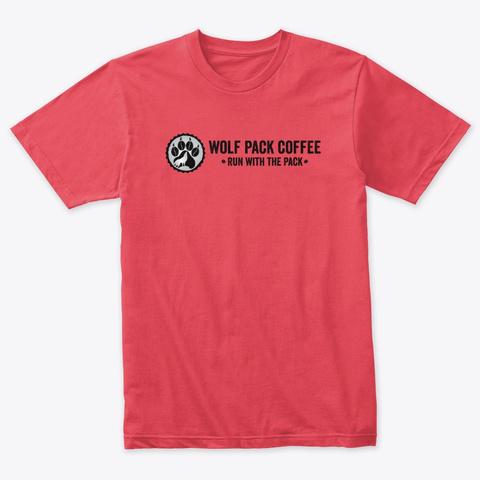 Tri Blend Horizontal  Vintage Red T-Shirt Front