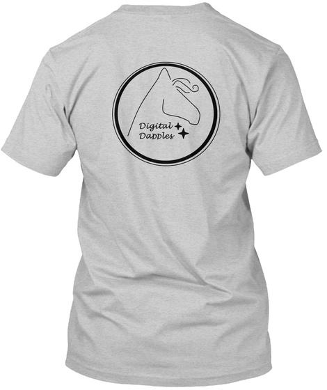 Digital Dapples Light Steel T-Shirt Back