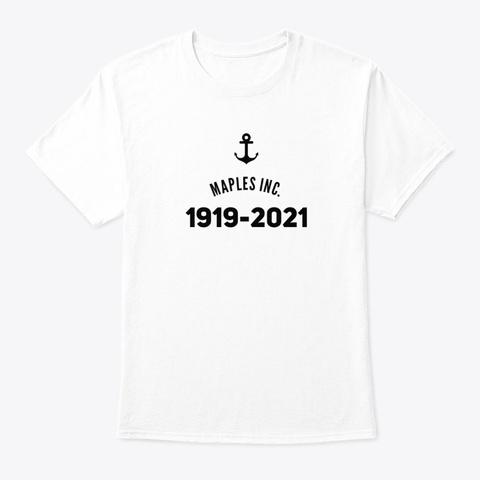 Maples Inc. 1919 2021 White White T-Shirt Front