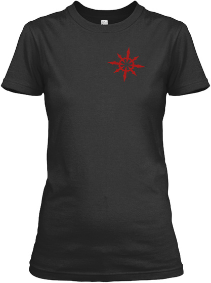 Radio Kaos Ladies Classic Black T-Shirt Front