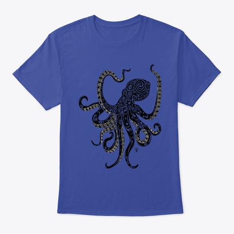 Tattooed Octopus Deep Royal T-Shirt Front