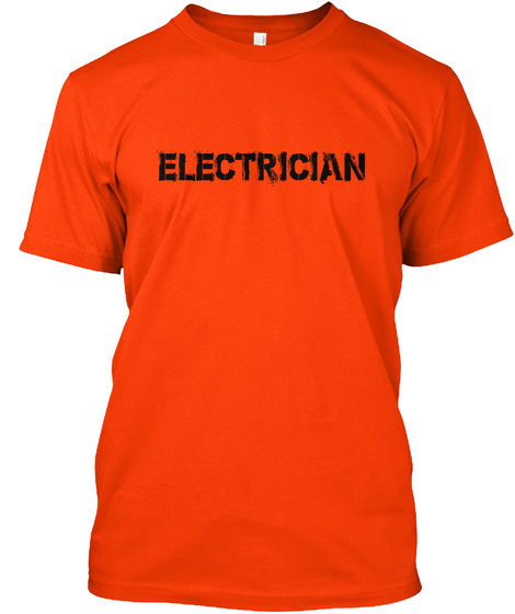 Electrician Orange T-Shirt Front