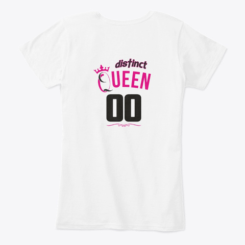 April Birthday Queen White T-Shirt Back