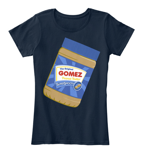 The Original Gomez Peanut Butter New Navy T-Shirt Front
