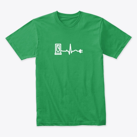 Ev Heartbeat 🤖 #Sfsf Kelly Green T-Shirt Front
