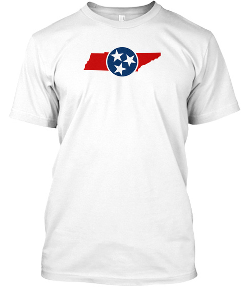 Tennessee Tee White T-Shirt Front
