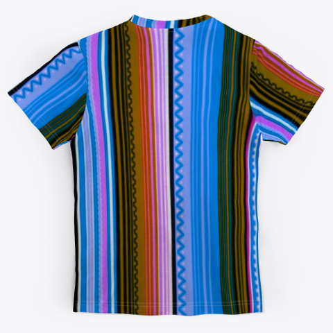 Turtle Tubbs Artistic Striped  Tee Shirt Standard T-Shirt Back