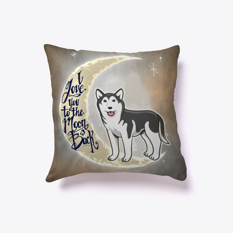 Husky Lover Pillow White T-Shirt Front