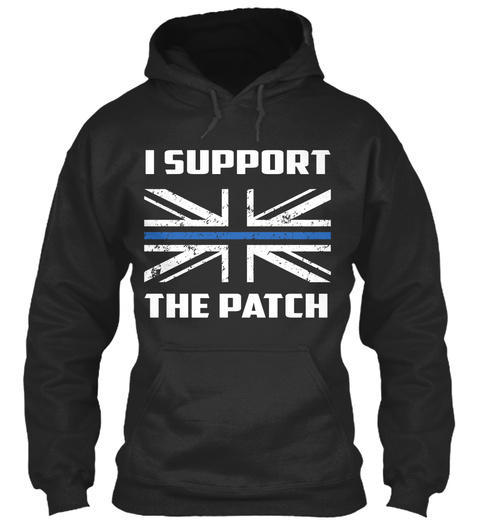 I Support The Patch  Jet Black Sweatshirt Front