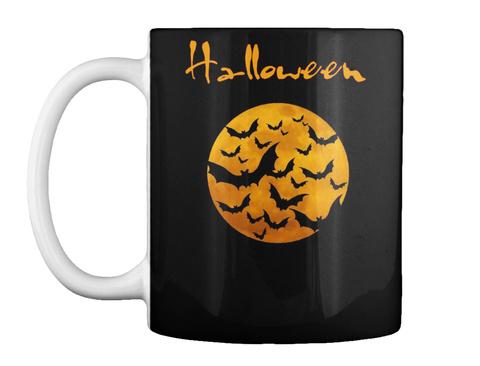 Halloween Black Mug Front
