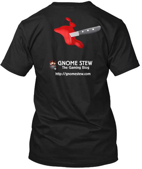 Gnome Stew The Gaming Blog Http://Gnomestew.Com Black T-Shirt Back