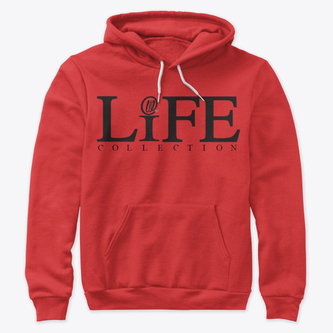 Original Life Collection Hoodie Red T-Shirt Front