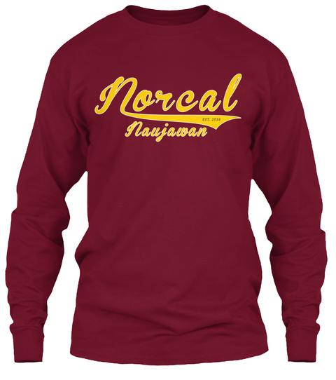 Norcal Est. 2016 Naujawan Cardinal Red T-Shirt Front