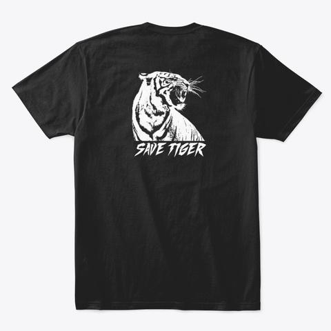 Save Tiger Collection Black T-Shirt Back