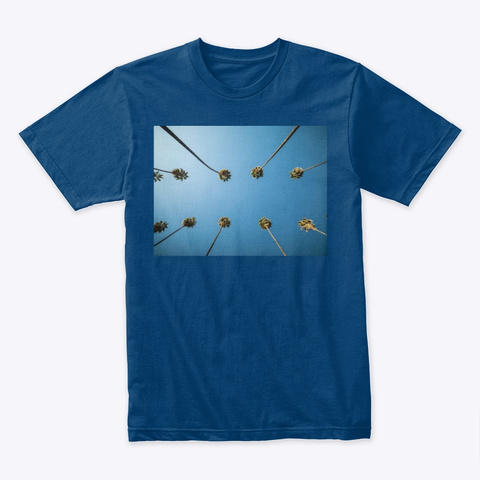 Palm Trees Cool Blue T-Shirt Front