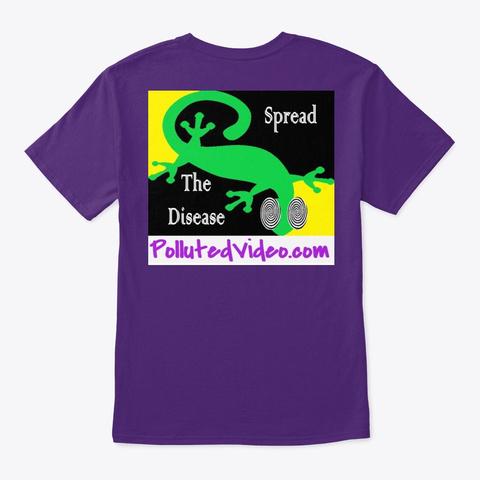 Spread The Disease Purple áo T-Shirt Back
