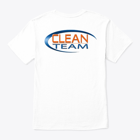 Original Clean Team Logo Collection White T-Shirt Back