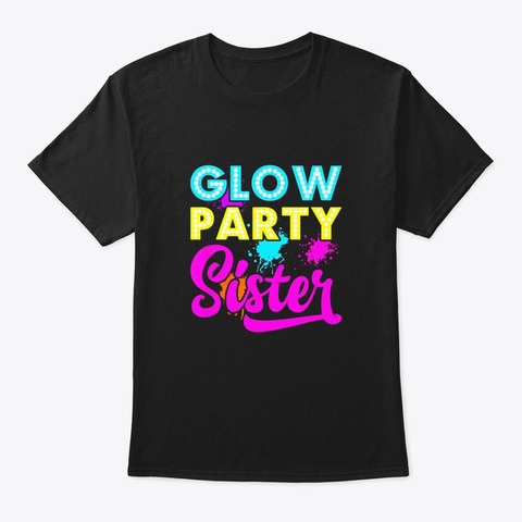 Glow Party Clothing Glow Party T Shirt Black T-Shirt Front