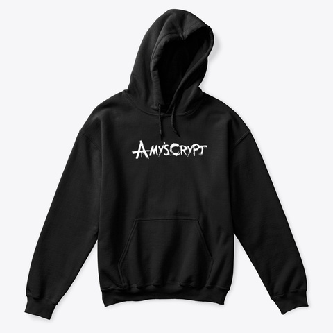 Amy's Crypt Black Kid's Hoodie Black T-Shirt Front