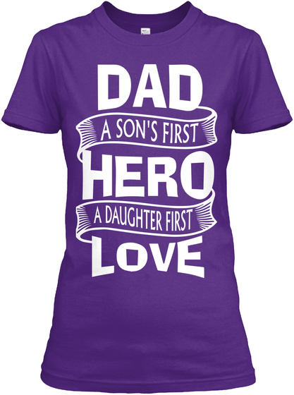 5b76b3315 Father's Day Tee 2019 Purple Women's T-Shirt Front