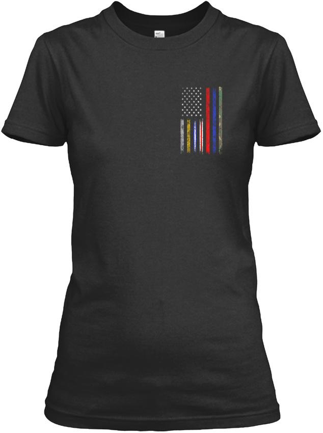 No-One-Fights-Alone-Top-Corrections-Dispatch-Ems-Gildan-Women-039-s-Tee-T-Shirt thumbnail 6