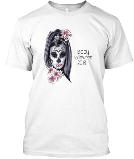 Happy Halloween 2018 Mug White T-Shirt Front
