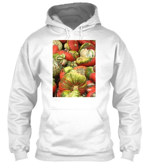 Pumpkin   White T-Shirt Front