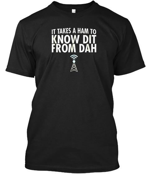 Dit From Dah Ham Radio T Shirt: Morse Co Black T-Shirt Front
