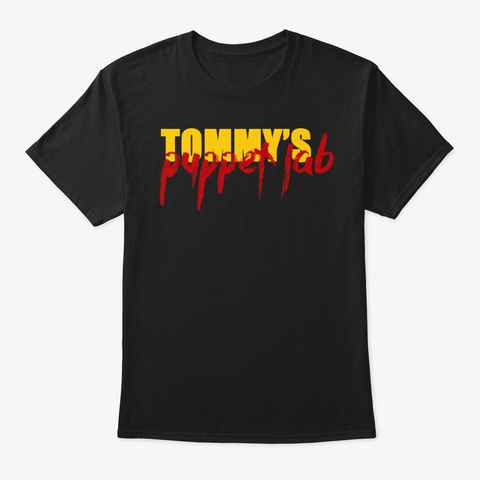 Tommy's Puppet Lab Official Black T-Shirt Front
