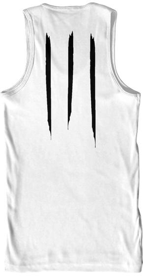 Promotion Premium Tank White T-Shirt Back