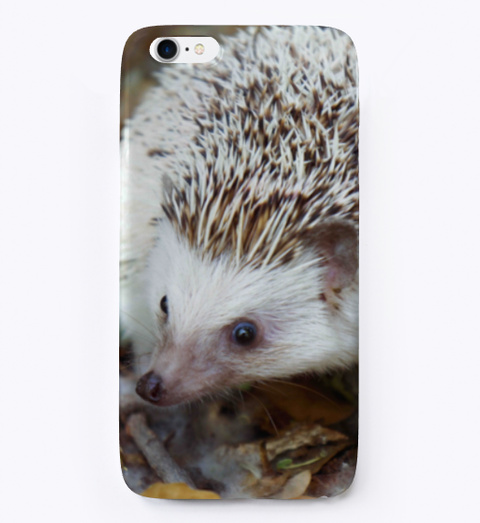 Hedgehog Phone Case Dark Grey T-Shirt Front
