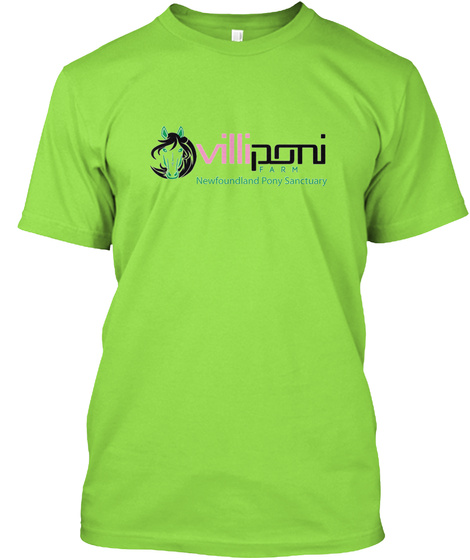 Newfoundland Pony Lover   Heather Lime T-Shirt Front